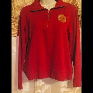 Ralph Lauren Red and Gold Sweater
